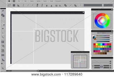 Paint Art Color Creative Design Tool Image Drawing Concept