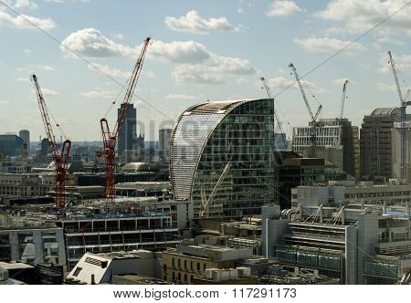City Of London With Moor House