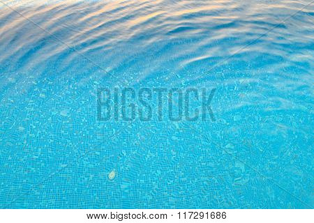 Swimming Pool And Sunlight Refraction