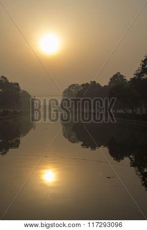 Sunrise From Pond