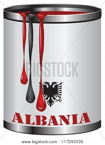 Color Of The Flag Of Albania
