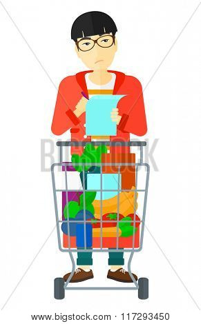 Man with shopping list.