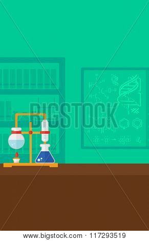 Background of chemistry laboratory.