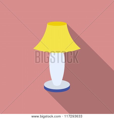 Colored Table Lamp With Long Shadow