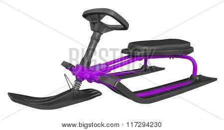 Snow Sledge Isolated - Violet