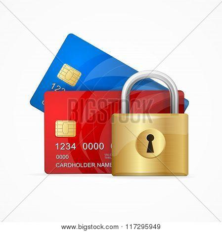 Money Secure Concept. Vector