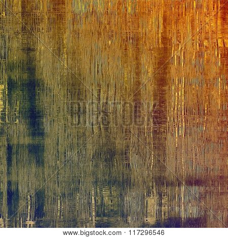 Grunge background with space for text or image. With different color patterns: yellow (beige); brown; red (orange); blue; green