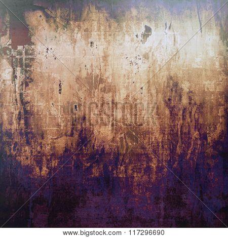 Grunge, vintage old background. With different color patterns: yellow (beige); brown; blue; purple (violet); black