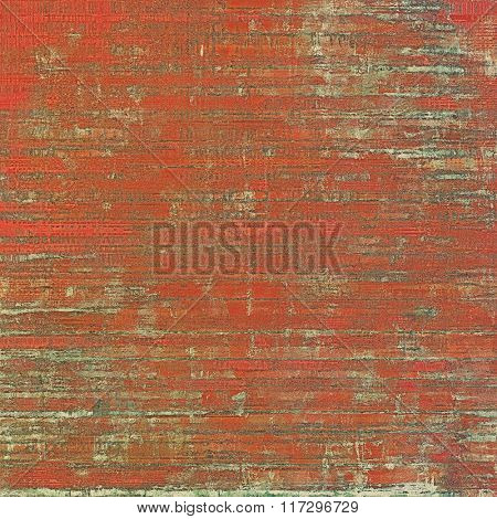 Art vintage background with space for text and different color patterns: brown; red (orange); gray; pink