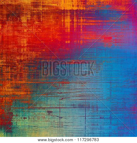 Grunge texture, distressed background. With different color patterns: brown; red (orange); blue; cyan; pink