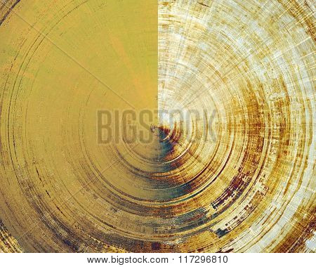 Grunge spherical old background. With different color patterns: yellow (beige); brown; white; blue; gray