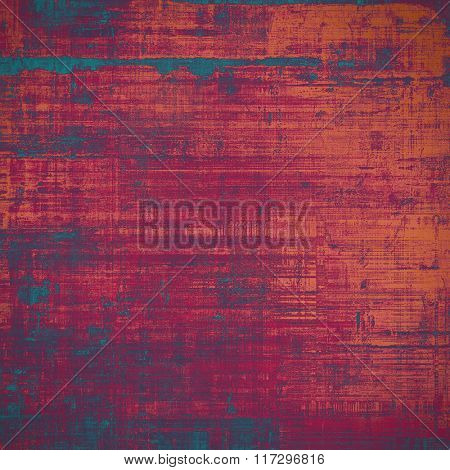 Designed grunge texture or retro background. With different color patterns: red (orange); blue; pink; purple (violet)
