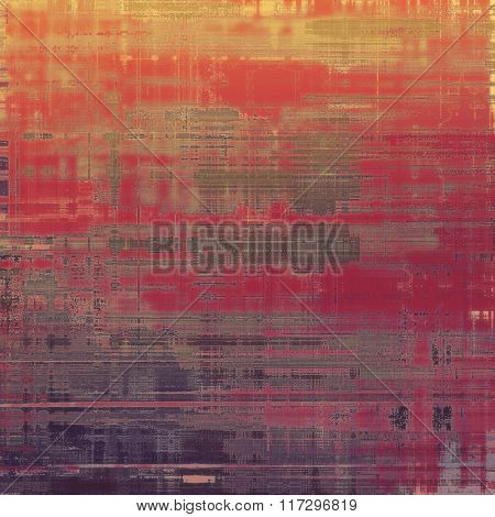 Antique grunge background with space for text or image. With different color patterns: yellow (beige); red (orange); gray; pink; purple (violet)