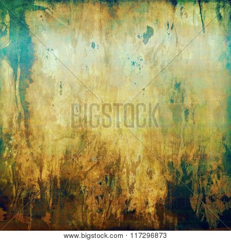 Designed grunge texture or retro background. With different color patterns: yellow (beige); brown; white; blue; green