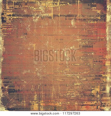 Old grunge textured background. With different color patterns: yellow (beige); brown; red (orange); gray; black