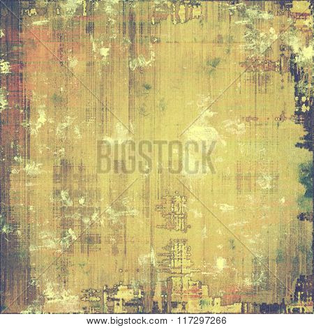 Vintage aged texture, colorful grunge background with space for text or image. With different color patterns: yellow (beige); brown; red (orange); green; gray