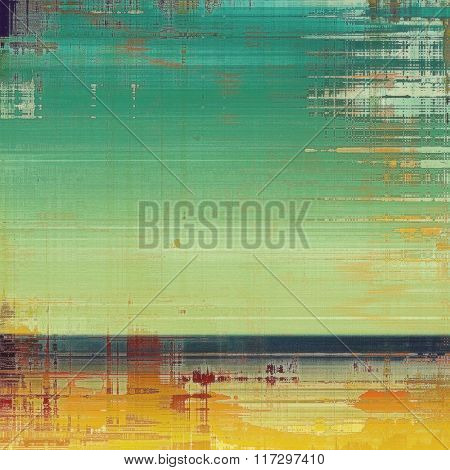 Grunge, vintage old background. With different color patterns: yellow (beige); red (orange); blue; cyan; green