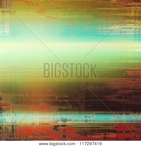 Grunge texture, distressed background. With different color patterns: yellow (beige); brown; red (orange); blue; green