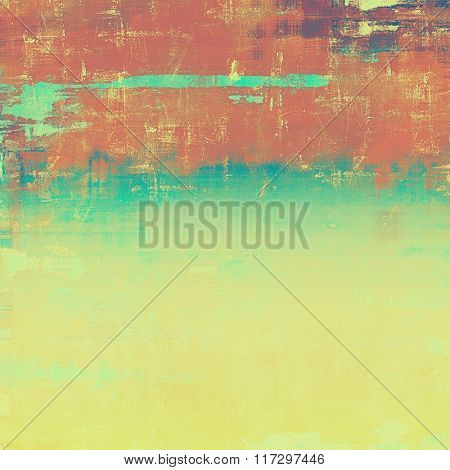 Grunge, vintage old background. With different color patterns: yellow (beige); brown; red (orange); blue; cyan