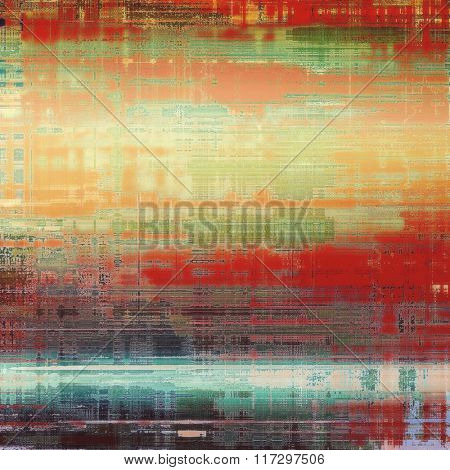 Antique grunge background with space for text or image. With different color patterns: yellow (beige); brown; red (orange); blue; green