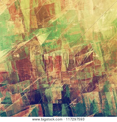 Geometric grunge vintage background. With different color patterns: yellow (beige); brown; blue; green; purple (violet)
