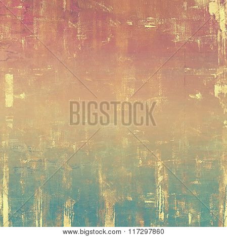 Old abstract grunge background, aged retro texture. With different color patterns: yellow (beige); brown; red (orange); blue; pink