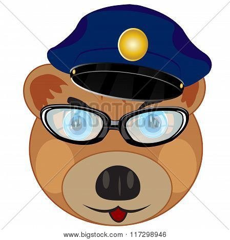 Portrait bear police