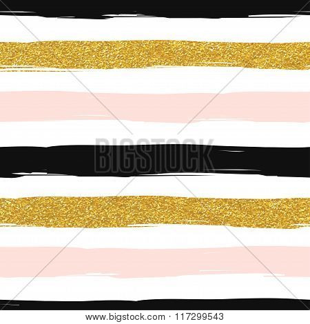 Seamless striped modern vector pattern