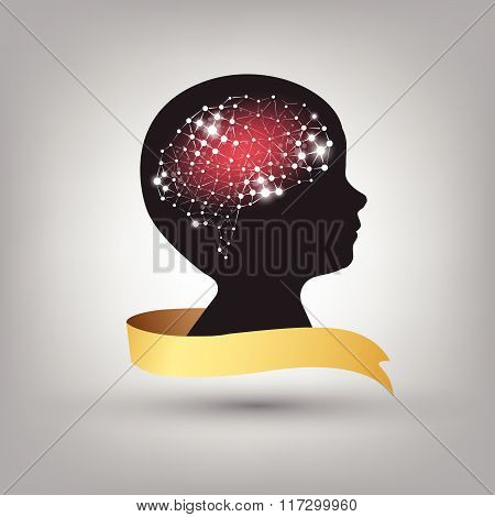 Creative Concept Of The Human Brain Vector Background