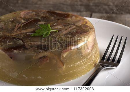 Pork Aspic On The Plate