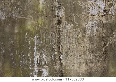 Old stained damp wall textured background