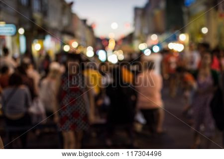 Blurred People In The Street