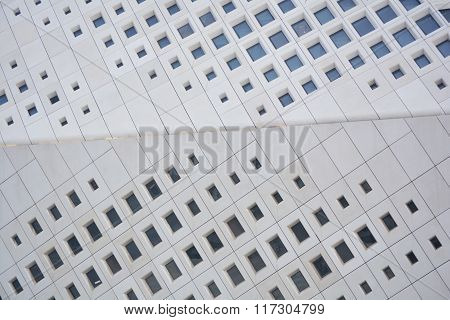 diagonal residential apartment blocks