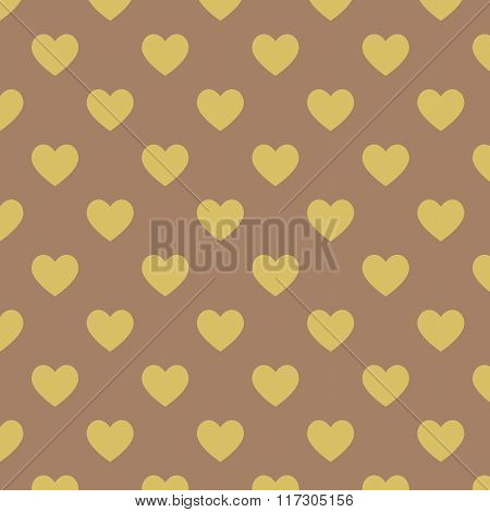 Seamless Polka Dot Dark Brown Pattern