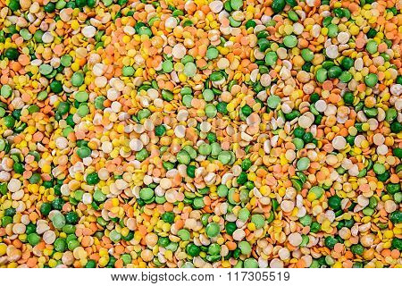 Background of kidney beans, peas and lentils and etc.