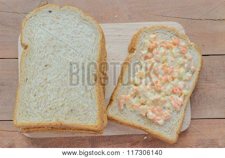 Whole Wheat Bread Cut On Slices.