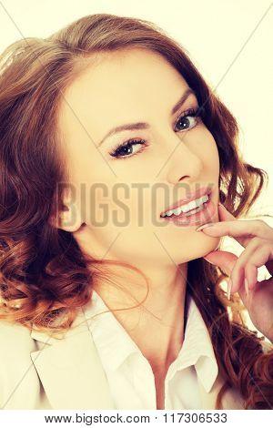 Beautiful smiling businesswoman.