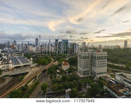 Beautiful Sunrise At Kuala Lumpur City Centre