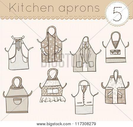 Set Of Kitchen Aprons 5