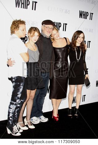 Ellen Page, Steven Spielberg and Drew Barrymore at the Los Angeles Premiere of