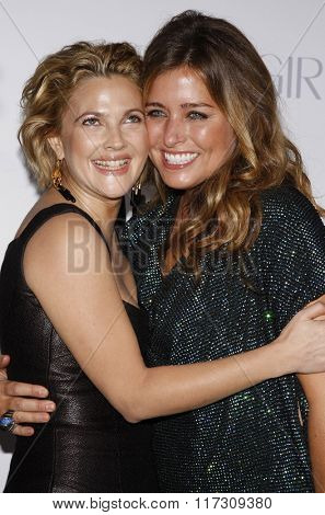 Nancy Juvonen and Drew Barrymore at the Los Angeles Premiere of