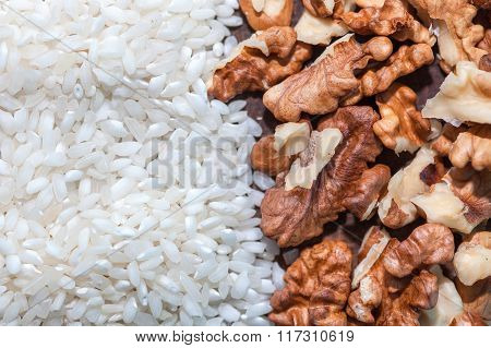 rice and nuts