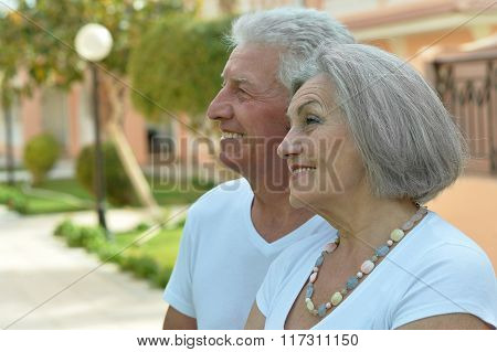 Senior couple  at hotel resort