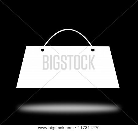 White Shopping Bag Isolated, Clipping Path