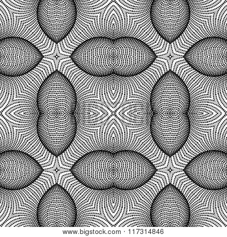 Design Seamless Monochrome Striped Background