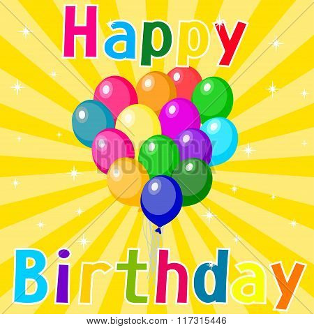 Vector illustration of a Happy Birthday card