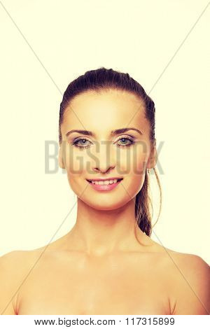 Beautiful adult woman with make up.