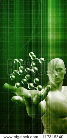 Science Molecular DNA Structure as a Concept