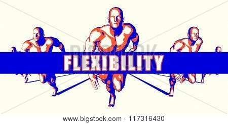 Flexibility as a Competition Concept Illustration Art