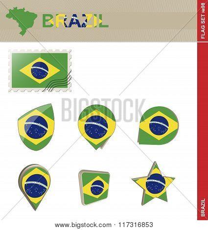 Brazil Flag Set, Flag Set #98